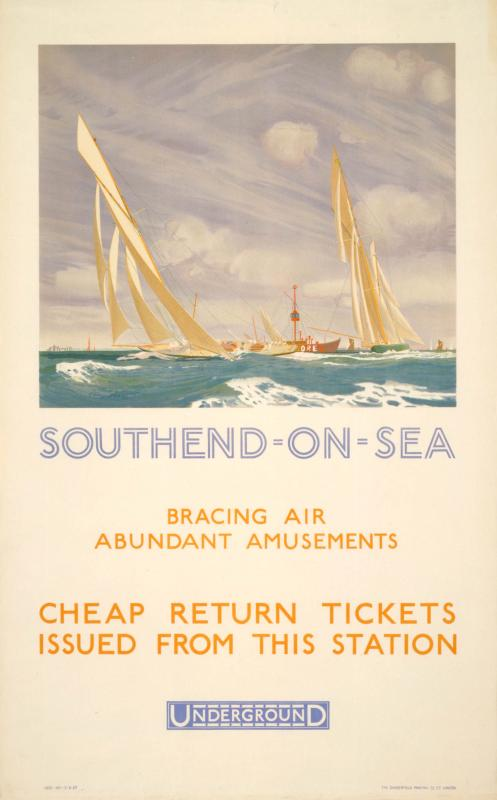 Southend-on-Sea, Charles Pears, 1927  © TfL from the London Transport Museum collection http://www.ltmuseum.co.uk/