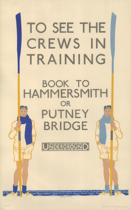 To see the crews in training, Charles Pears, 1930 © TfL from the London Transport Museum collection http://www.ltmuseum.co.uk/