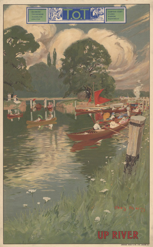 Up river, Charles Pears, 1914 © TfL from the London Transport Museum collection http://www.ltmuseum.co.uk/
