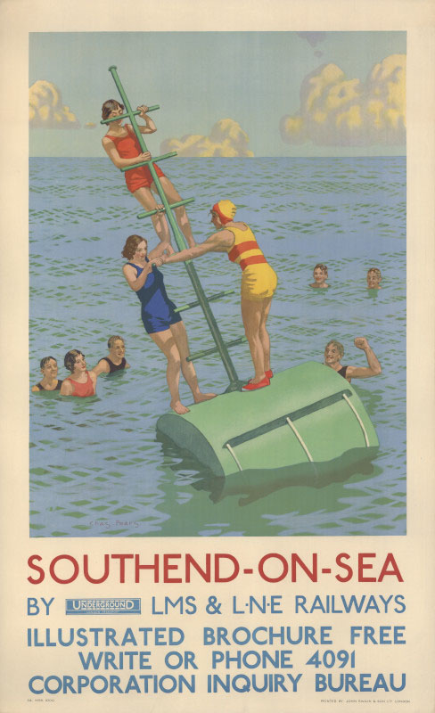 Southend-on-Sea, Charles Pears, 1934 © TfL from the London Transport Museum collection http://www.ltmuseum.co.uk/