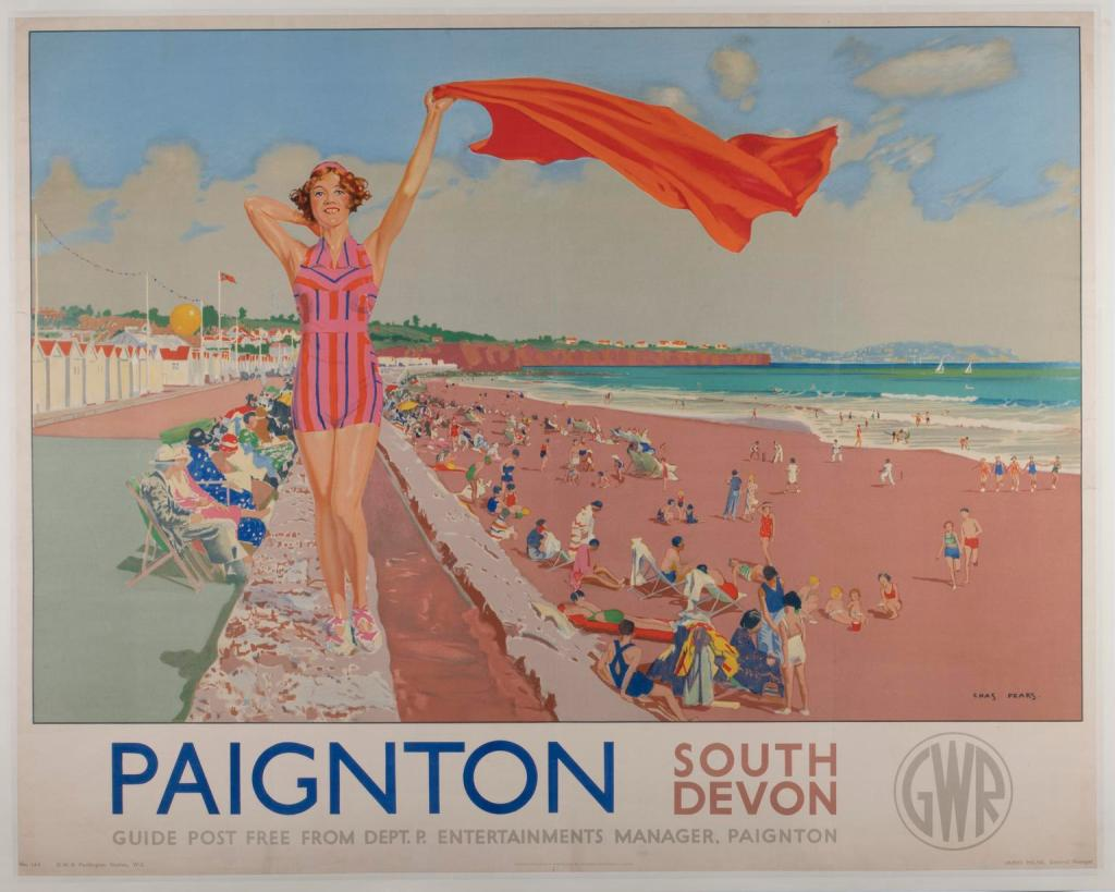 GWR Poster 'Paignton, South Devon' by Charles Pears 1938 Science Museum Group © The Board of Trustees of the Science Museum